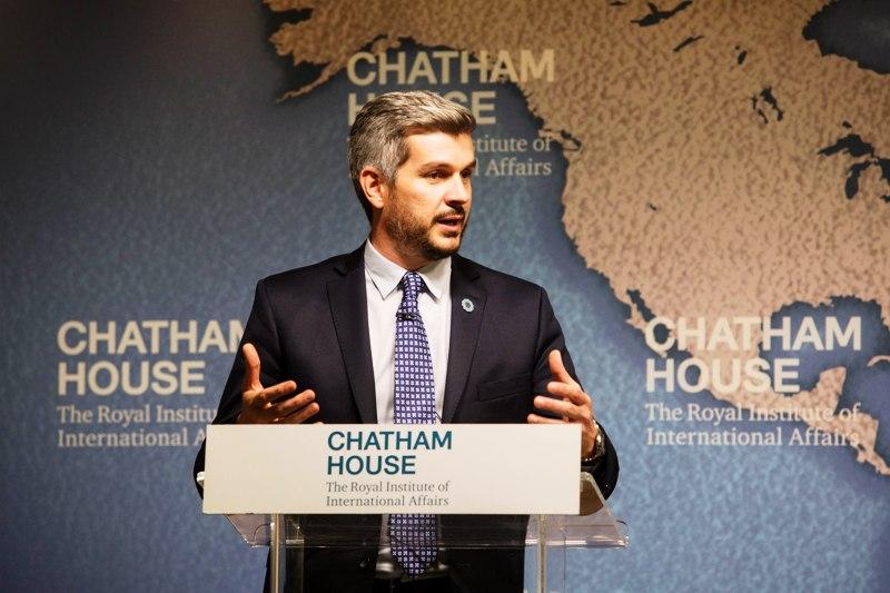 Marcos Peña expuso sobre la Presidencia argentina del G20 en Londres