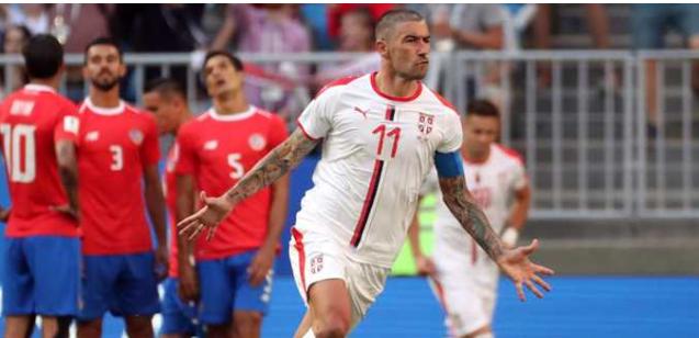Con un tiro libre espectacular, Serbia venció a Costa Rica por el Grupo E