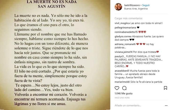 El mensaje de Las Trillizas de Oro tras la muerte de Geñi