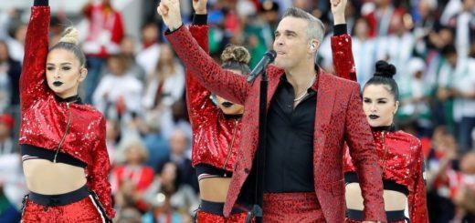 El insólito gesto de Robbie Williams en plena ceremonia inaugural del Mundial