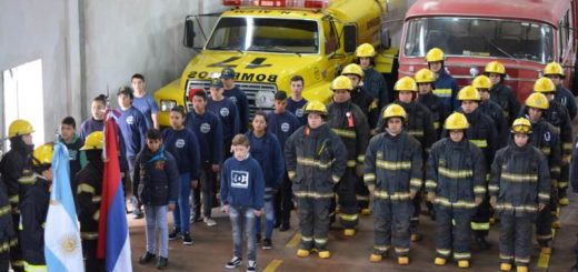 Los bomberos voluntarios de Alem celebraron su día