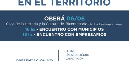 """Oberá será sede del encuentro """"Industria en el Territorio"""""""