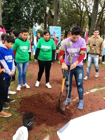 Se creó un «Hito Ambiental» en la plaza 9 de Julio de Puerto Piray