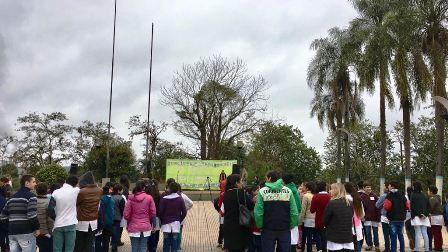 """Se creó un """"Hito Ambiental"""" en la plaza 9 de Julio de Puerto Piray"""