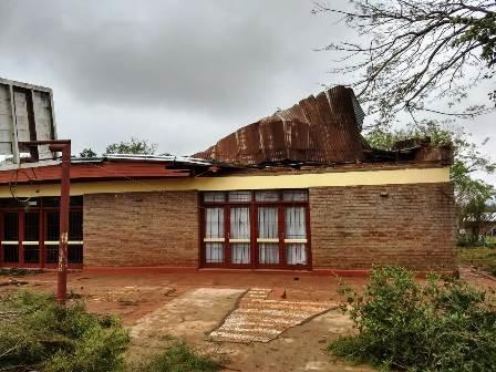 Temporal en Misiones: relevamiento de los daños provocados por el temporal realizado por la Policía