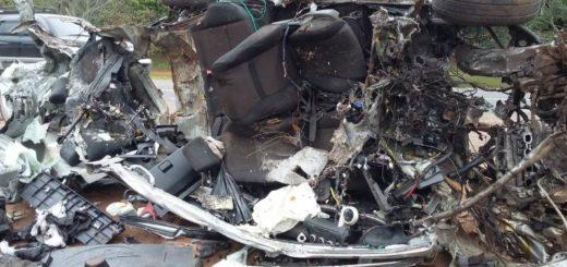 Terrible accidente entre camión y auto dejó como saldo un muerto en Paraguay