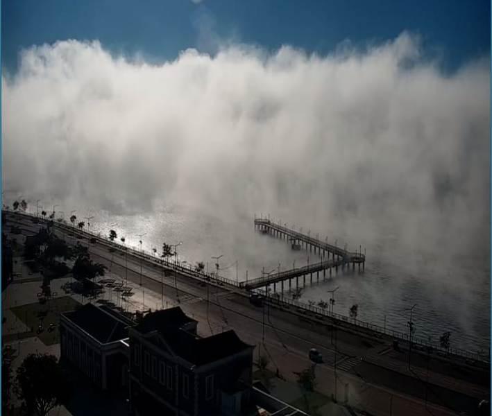 Video: Impresionante neblina cubre la Costanera de Posadas