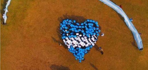 Hicieron un Banderazo en El Soberbio para elevar la autoestima de ciudadanos fronterizos y apostar al éxito de la selección
