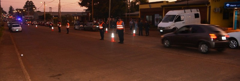 Intenso megaoperativo policial en Posadas: varios detenidos y objetos recuperados