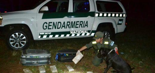"""Gracias a la reacción de """"Athena"""" la Gendarmería incautó casi 9 kilos de marihuana"""