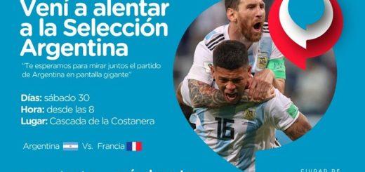 Posadas se suma a los #PuntosDeAliento de la Selección Argentina
