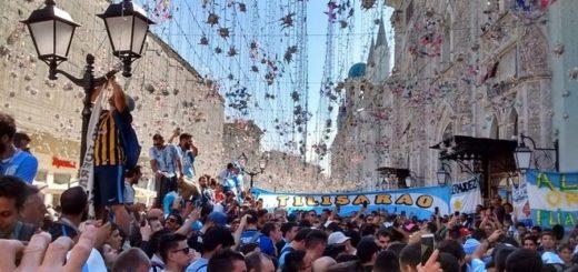 #Mundial2018: Banderazo argentino en Moscú