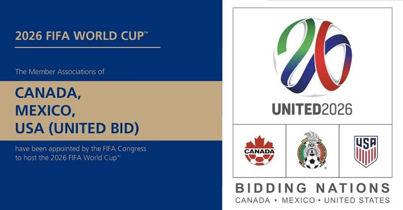 El Mundial 2026 se disputará en México, Estados Unidos y Canadá