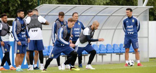 #Mundial2018: Sampaoli probó con Agüero y Salvio entre los  titulares