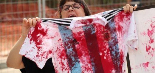 #Mundial2018: Militantes Pro-Palestina escracharon a la selección Argentina por el amistoso del sábado