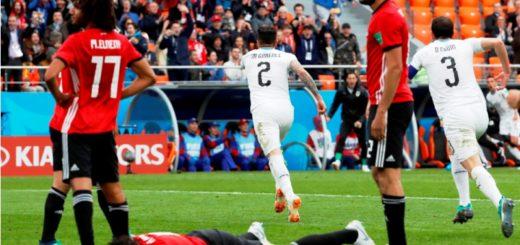 #Mundial2018: Uruguay debutó en la Copa del Mundo, con triunfo agónico sobre Egipto