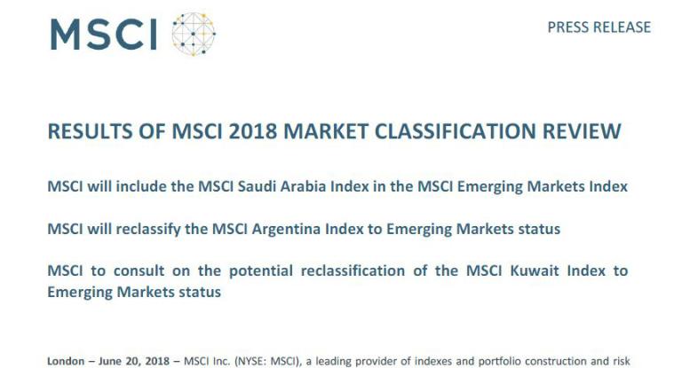 Tras casi una década, Argentina vuelve a ser mercado «emergente»