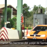 #ParoNacional: largas filas en el puente Posadas-Encarnación para ingresar al país, solo funciona una casilla