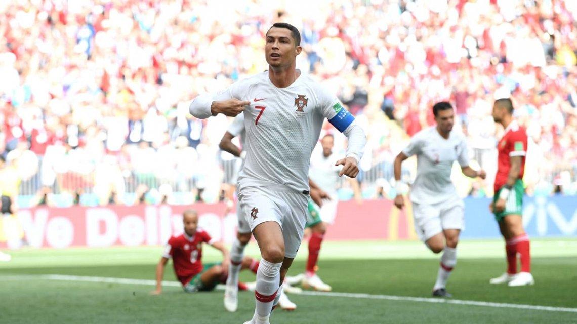 #Mundial2018: Portugal no jugó bien, pero Cristiano Ronaldo le dio el triunfo sobre Marruecos