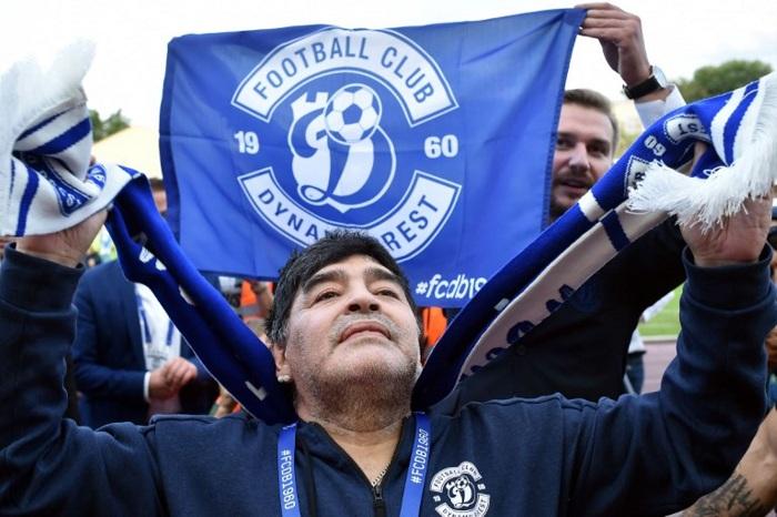 Maradona asumió como presidente del club bielorruso Dinamo Brest