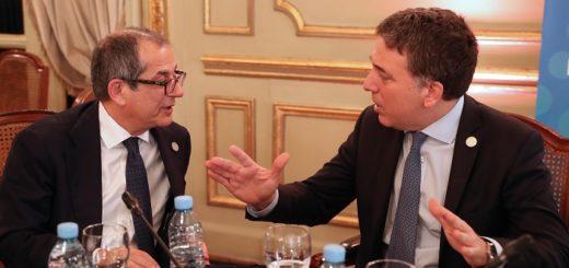 Nicolás Dujovne mantuvo reuniones bilaterales con sus pares de Italia y España
