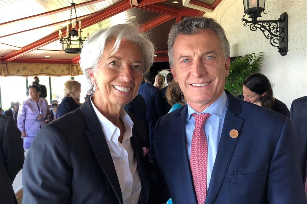 Christine Lagarde llegará hoy a Buenos Aires y cenará con Macri en Olivos