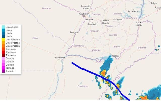 Anticipan probabilidad de lluvias y máximas de 28 grados para este martes en Misiones