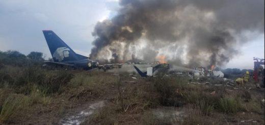 Accidente en México: Se desplomó un avión de Aeroméxico en el aeropuerto de Durango