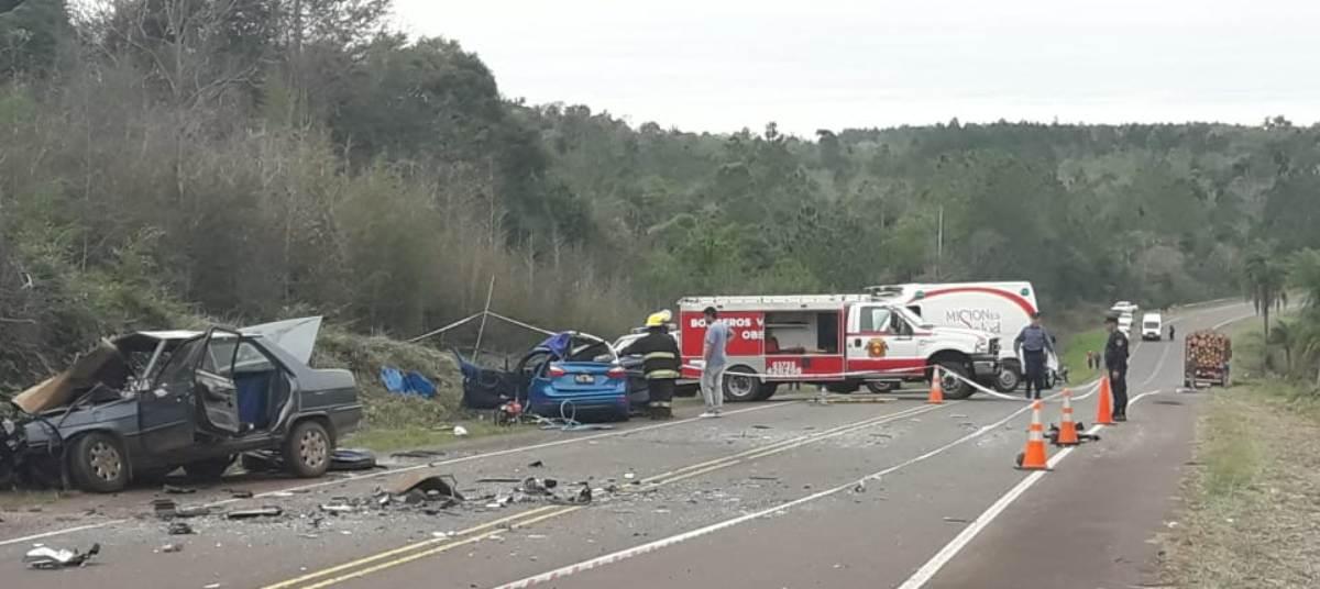 Choque frontal dejó como saldo dos personas fallecidas y 5 lesionados en San Martín