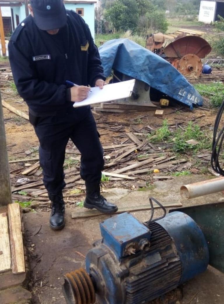 Allanaron un aserradero y recuperaron 150 mil pesos en herramientas eléctricas robadas