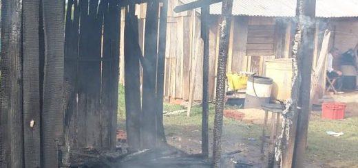 Posadas: incendio consumió una vivienda en el barrio Cruz del Sur