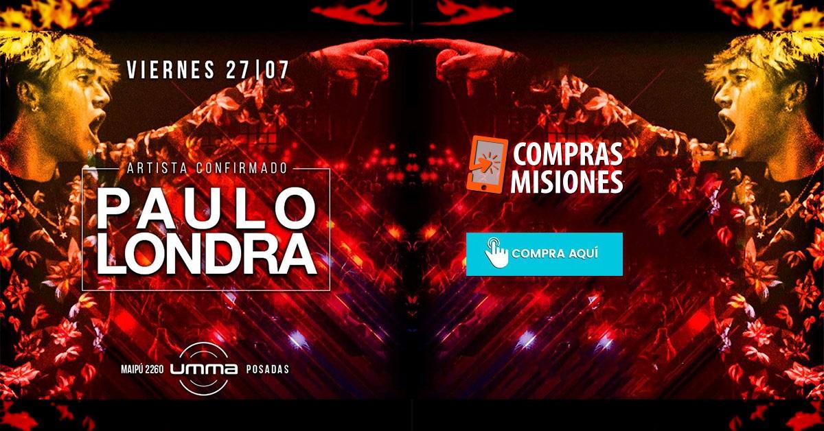 Llegó el día: Paulo Londra actúa hoy en UMMA…Apurate porque quedan las últimas entradas en Compras Misiones