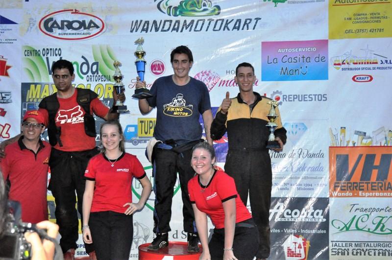 Kárting: Jara,Umfuhrer, Vogel, Ferreyra y Casares se impusieron ante una multitud en Wanda