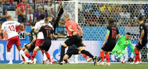 #Mundial2018: En un arranque de locos, Dinamarca arrancó ganando desde primer minuto, pero Crocia se lo empató enseguida