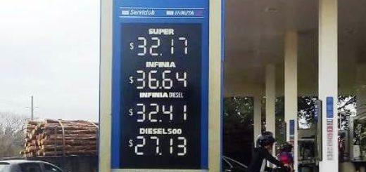 YPF volvió a subir los precios de los combustibles en Misiones