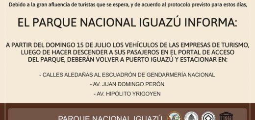 Cataratas: desde este domingo rige el protocolo de contingencia para ordenar el estacionamiento