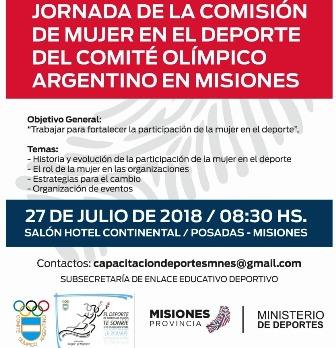 Jornada de la comisión de mujer en el deporte del Comité Olímpico Argentino de Misiones