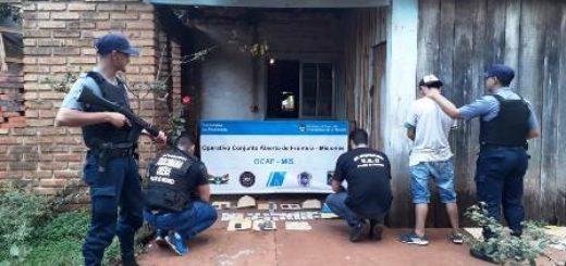 La Policía secuestró marihuana,  recuperó elementos robados y detuvo a un joven en Oberá