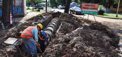 Vialidad realiza reparaciones en calles de Posadas y hay interrupción del tránsito
