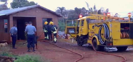 San Vicente: principio de incendio en el predio donde depositan los decomisos judiciales
