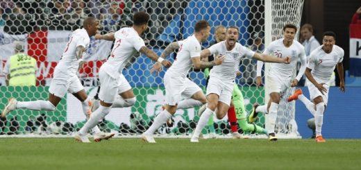 #Mundial2018: Final del primer tiempo, Inglaterra derrota 1 a 0 a Croacia y se mete en la final