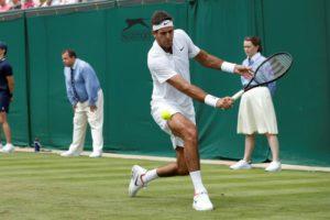 #Wimbledon: Del Potro ganaba su partido, se suspendió por falta de luz y continuará mañana