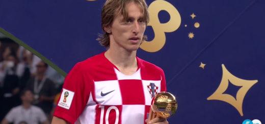 #Mundial2018: Modrić se quedó con el Balón de Oro