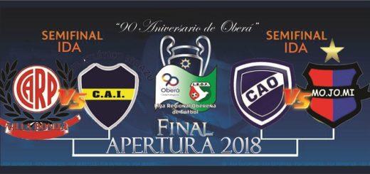 Atlético Oberá, Mojomi, Atlético Iguazú y Atlético River, comienzan a buscar un lugar en la final