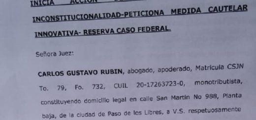 La localidad correntina de Mercedes presentó un recurso de amparo contra la medida eliminación del fondo de la soja