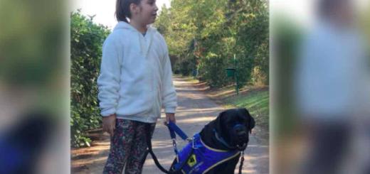 Echaron a una nena de ocho años de un bar por entrar con su perro de asistencia: ¡Tomátela! qué hacés con un perro acá adentro?