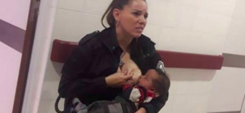 Ascendieron a la oficial que amamantó al bebé en el Hospital de niños de La Plata