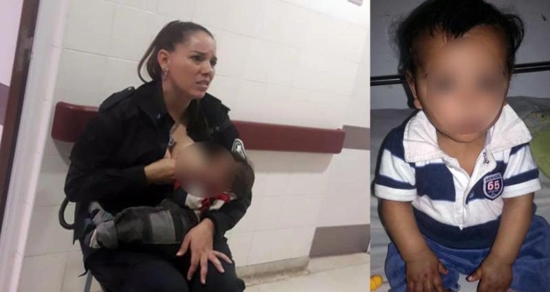 La dolorosa historia del bebé que lloraba de hambre y fue amantado por una policía en un hospital de La Plata