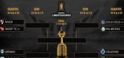 Copa Libertadores: con cuatro equipos argentinos, así quedaron las llaves de cuartos de final