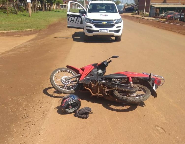 Choque de motos dejó dos heridos en Puerto Iguazú